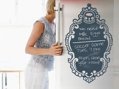 Reuseable Chalkboard Decal for fridge ( opensky.com/p/alt )