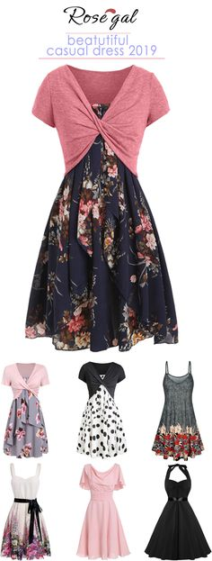 Free shipping over $45, up to 75% off, Rosegal Rosegal casual dress 2019 trends best women's closet