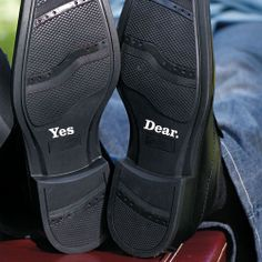 """Yes Dear """"Shoe Talk"""" Stick on Decals for Shoes - LOL"""