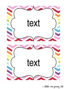 Editable Rainbow Chevron Supply Labels // 4 x 6 from Little Miss ...