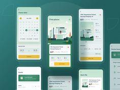 Villa finder app rebound by Riko Sapto Dimo Page Design, Ui Design, App Log, Mobile App Design, Product Page, Web Design Inspiration, Show And Tell, Rebounding, Minimal Design