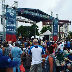 The main stage in downtown St. Augustine. The Bridge of Lions and the whole street was blocked off and people were everywhere.