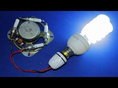 Electricity Generator 220V & 240V CFL Light Bulb NEW 2019 AC Electric Generator Experiment - YouTube