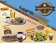 A empezar la semana con mucha actitud!  Los esperamos con nuestros #KáapehCOMBOS para cada día de la semana el de hoy #lunes son estos Huevos al gusto con un Café Americano y un Jugo de Naranja.  Te hace el día!  Servicio a domicilio al (983) 162 1240  #Promociones #KáapehCOMBO #Desayunos #Káapehtear #Káapehtería #TeHaceElDía #ConsumeLocal #Cafetería #Café #Alimentos #Postres #Pasteles #Panes #Cancún #Chetumal #México