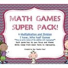 6 Different Math Games for Multiplication and Division bundled together for one great set at just $4.00!   http://www.teacherspayteachers.com/Product/Multiplication-and-Division-Super-Math-Games-Pack-648600