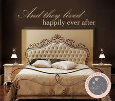 Vinyl Wall Decal  And they lived happily by FourPeasinaPodVinyl, $18.00 Vinyl wall decal, wall decals, happily ever after, love quote www.etsy.com/shop/fourpeasinapodvinyl