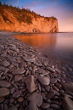Cape Enrage located along the Bay Of Fundy in New Brunswick, Canada