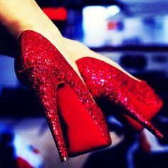 Ruby red slippers much? yes please!