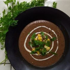 Spicy black bean soup/香辛料たっぷりの黒豆スープ