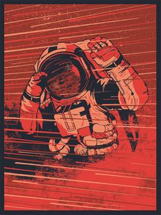 OLYMPUS MONS - POSTER  3-color screen printed art print by graphic designer and illustrator Ryan Lynn.