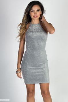 c337c82ca7ac1 19 Best Silver Dresses images in 2018 | Hot dress, Sexy dresses ...