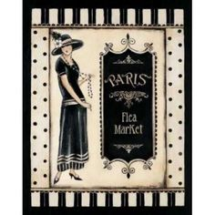 Paris Flea Market Canvas Art - Kimberly Poloson (22 x 28)