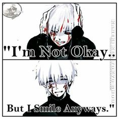 Kaneki goes through so much pain its almost unbearable to watch. Almost. Such a great anime!
