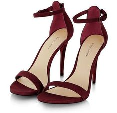 Dark Red Suede Ankle Strap Heels #redanklestrapsheels