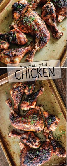 Spicy Za'atar Grilled Chicken is a recipe that's perfect for a summer barbecue!   www.cookingandbeer.com