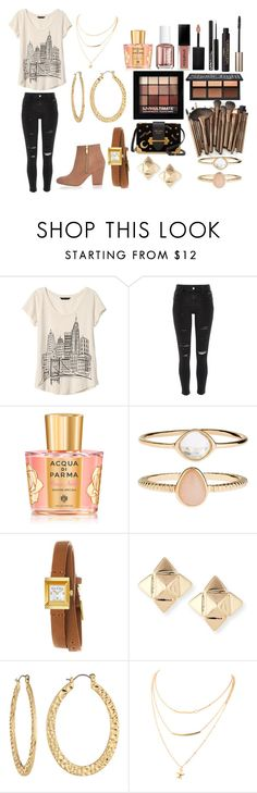 """""""Untitled #534"""" by rasberry893 ❤ liked on Polyvore featuring Banana Republic, River Island, Miss Selfridge, Tom Ford, Kat Von D, Acqua di Parma, NYX, Accessorize, Gucci and Valentino"""