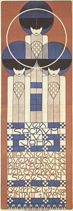 Koloman Moser ~ Designed at the end of the Art Nouveau period and start of Art Deco.