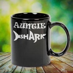 Auntie Shark Great t-shirts, mugs, bags, hoodie, sweatshirt, sleeve tee gift for aunt, auntie from niece, nephew or any girls, boys, children, friends, men, women on birthday, mother's day, father's day, Christmas or any anniversaries, holidays, occasions.