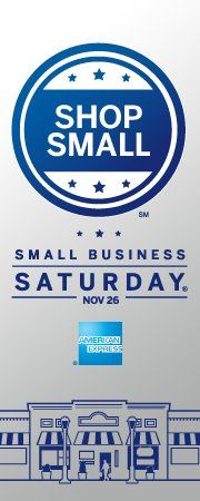 Shop Small Saturday! Support local business :) Check us out for more details!