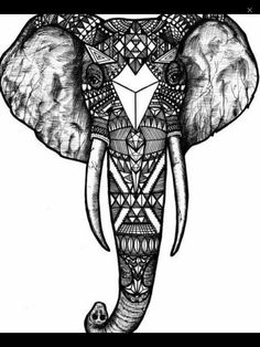 dessin t te ethnique motifs d 39 l phant sur le fond de grange design totem de tatouage africain. Black Bedroom Furniture Sets. Home Design Ideas