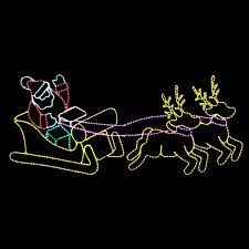 8 Foot Animated Multi-Color LED Rope Light Waving Santa Reindeer and Sleigh Motif Christmas Light Displays, Holiday Lights, Christmas Lights, Rudolph Red Nosed Reindeer, Reindeer And Sleigh, Merry Christmas And Happy New Year, Christmas 2015, Frame By Frame Animation, Led Rope Lights
