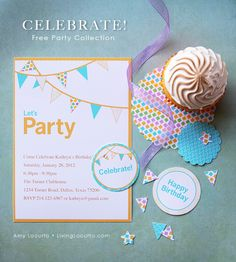 A Free Party Printable Collection designed by Amy Locurto from LivingLocurto.com
