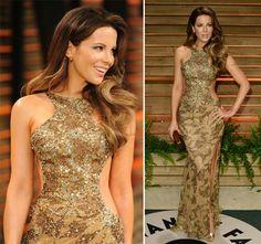 2014 Vanity Fair Oscars Party Best Dressed Celebrities: Kate Beckinsale  #Oscars #celebrities #redcarpetfashion