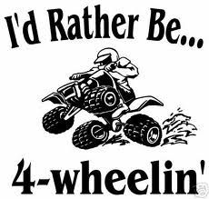 Id take an atv and a mud hole over anything!!
