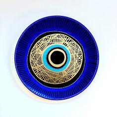 Evil Eye Decor - Wall Evil Eye - Original Art - Art Contemporary - Wall Hanging Decor - Wall Decor Evil Eye - 3D Blue Evil Eye Decor by biancafreitas on Etsy