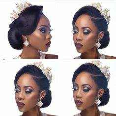 Black Wedding Hairstyles Bridal Hair Style Vintage Updo Clean Updo African American Bridal