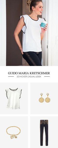 Ein lässiges #Blusenshirt von Guido Maria Kretschmer ist ein herrlicher Alltagsbegleiter. Mit einem einfachen #Styling ist man jederzeit gut angezogen.
