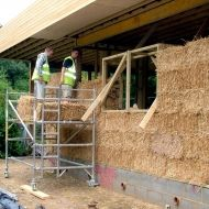 Straw makes a super insulating, sound proofing, energy efficient, fire resistant, breathable material perfect for building a  sustainable home