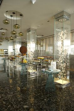 Restaurant at the Jumeirah at Etihad Towers, Abu Dhabi by DBI Design
