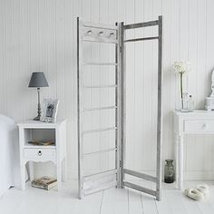 Grey wooden clothes  Rail Height: 155cm Fully Extended Width: 95cm  £85