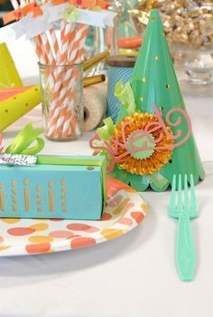 """A sweet party by #Sizzix  """"Sweet"""" die: http://www.sizzix.com/product/656573/sizzix-originals-die-phrase-sweet  Rosette: http://www.sizzix.com/product/657177/sizzix-sizzlits-decorative-strip-die-mini-paper-rosettes-2-sizes"""