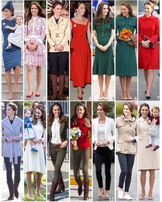 A recap of all the Duchess's looks on the Canadian Royal Tour. 1: Arrival in Victoria: Jenny Packham dress, Lock & Co cocktail hat, Gianvito Rossi '105' pumps. 2: Vancouver day of engagements: Alexander McQueen dress, Russell & Bromley 'Pinpoint' pumps. 3: Bella Bella & Great Bear Rainforest welcome and tour: Holland and Holland jacket, Zara jeans, Penelope Chilvers boots. 4: Victoria Government House Reception: Preen by Thornton Bregazzi 'Finella' dress, Gianvito Rossi '105' pumps. 5…