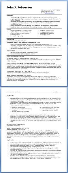 process engineer resume sample - It Process Engineer Sample Resume
