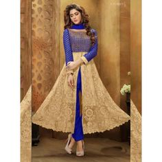 Bewildering Embroidery Work Designer Suit Comes With Top-Banglori Silk work ,Slives and Flaier net work, Dupatta- naznin