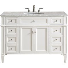 This classic. contemporary marble top vanity console from our Park Avenue collection is roomy enough to keep all your bath essentials close at hand. Fitted with a spacious Italian Carrara white marble counter top and an oval porcelain sink. Marble Vanity Tops, Wood Vanity, Vanity Cabinet, Vanity Set, Marble Top, White Marble, Metal Storage Cabinets, Metal Drawers, Office Bathroom