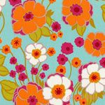 Alexander Henry Nicole's Prints Retro Floral Light Blue [AH-DE7889-A] - $10.95 : Pink Chalk Fabrics is your online source for modern quilting cottons and sewing patterns., Cloth, Pattern + Tool for Modern Sewists