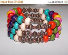 25%OFF Rainbow Magnesite and Copper Wrap Bracelet