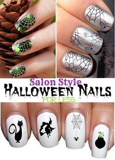 Salon Style Halloween Nails for Less!