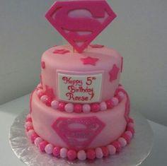 Supergirl Cake, www.tnrscakesncookiesgalore.com