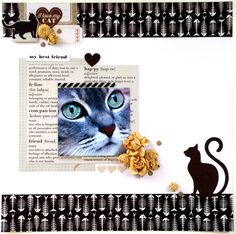 """""""My Best Friend"""" Layout by Amanda Baldwin for Kaisercraft Furry Friends collection ~ Scrapbook Pages 3."""