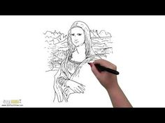"""Download """"Mona Lisa"""" HD Screensaver at our website! From 321 FastDraw #art #mona #lisa #painting #museum #marker #whiteboard"""