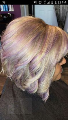 Violet and ice blonde color  Brittany Reynolds ♡