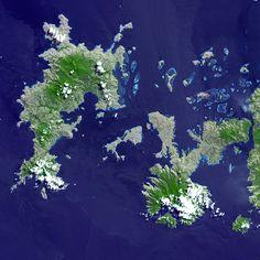 "NASA/ASTER Terra Satellite Advanced Spaceborne Thermal Emission and Reflection Radiometer - 2000 ""Lesser Sunda Islands, Indonesia"""