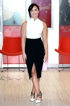 "Demi Lovato Photos Photos - Celebrities visit ABC Studios for an appearance on ""Good Morning America"" on March 12, 2015 in New York City, New York.<br /> Pictured: Demi Lovato - Celebs Visit 'Good Morning America'"