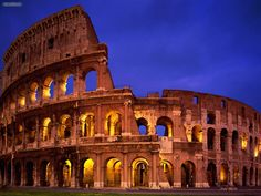 Colosseum in Rome - Italy  #Rome #Roma #Italia #Italy #history #ancient #places #Colosseum