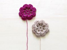 Crochet flowers / garland or embellishment / by theYarnKitchen, $12.00